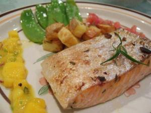 Broiled Salmon Special