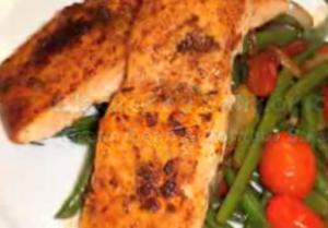 Cuban Blackened Salmon