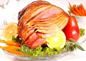 New Year's Apricot Honey Glazed Ham
