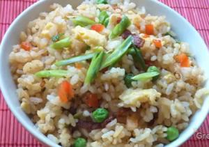 Oriental Bacon Fried Rice