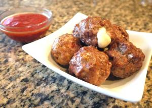 Cheese Stuffed Meatballs a la Pizzaiola