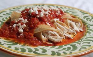 Red Turkey Enchiladas