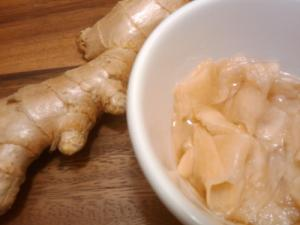Pickling ginger for Sushi