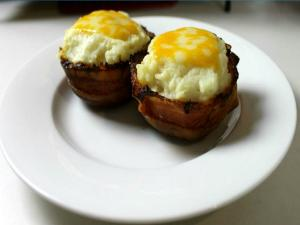 Bacon Bowl Twice Baked Potatoes