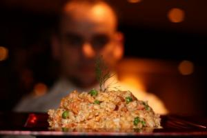 "Veal & Wild Mushrooms risotto "" truffle perfumed"""