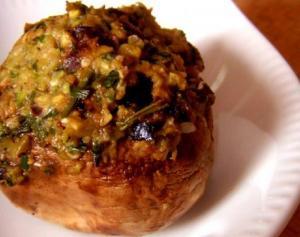 Mushrooms Stuffed With Turkey