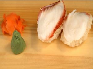 Tako Nigiri Zushi (Octopus Hand Formed Sushi)