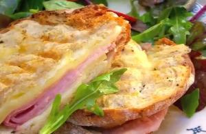 Grilled Croque Monsieur Sandwich