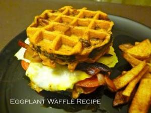 Quick BLT Sandwich Made With Eggplant Waffle
