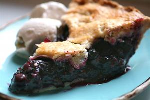 Glazed Blueberry Pie