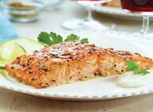 Wegmans Cedar-Plank Salmon with Brown Sugar & Cracked Pepper