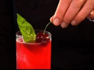 How to Make a Cherry Basil Collins