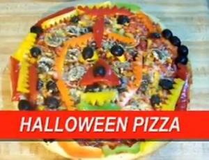 Halloween Veggie Pizza