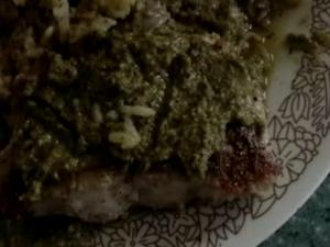 Panfried Tilapia Fish  With Genovese Citrus Pesto