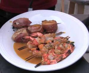 Grilled Seafood On Cedar Planks