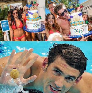 Phelps celebrates retirement with cake