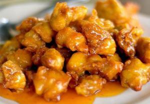 Chicken In Orange Almond Sauce