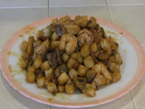 SmokingPit.com - Cajun Shrimp & Bay Scallops - Cooked on a Griddle on a Yoder YS640