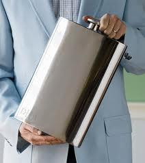 Store liquor in stainless steel flask