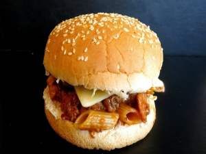 Bacon & Pasta Cheeseburger