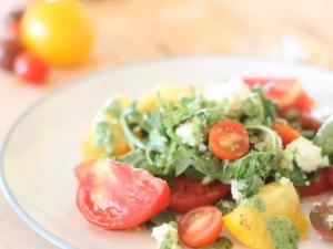 Heirloom Tomato Salad With Jalapeño And Cilantro Vinaigrette