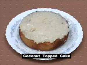 Indian Coconut Topped Cake