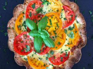 Herbed Quiche with Heirloom Tomatoes