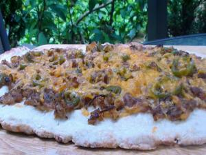 Jalapeno and Caramelized Onion Flat Bread