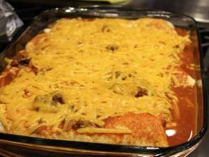 Beef Enchiladas with Mexican Hot Rice