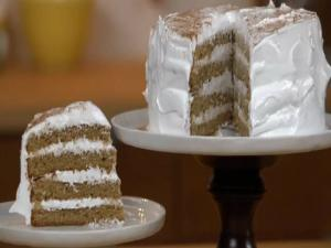 Chai Spiced Layer Cake With Meringue Icing