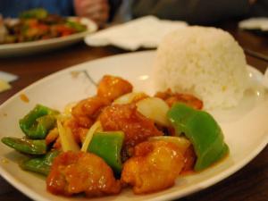 Sweet and Sour Tuna on Rice
