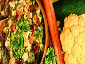 Thanksgiving Raw Veggie Stuffing