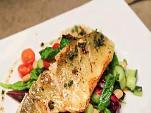 Panfried Pickerel with Cannellini Bean Salad