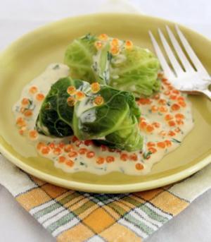Caviar & Cabbage Canapes