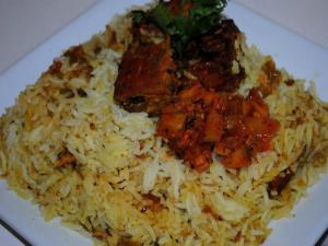 Baked Fish Biriyani/ Shrimp Biriyani