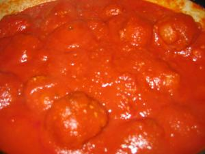 Italian Meat Balls and Tomato Sauce