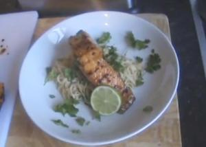Salmon Teriyaki With Noodles