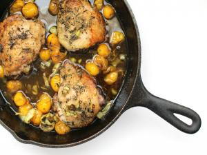 Herbed Roasted Chicken Thighs with Cherry Tomatoes