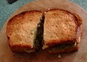 Sandwich With Caesar Salad