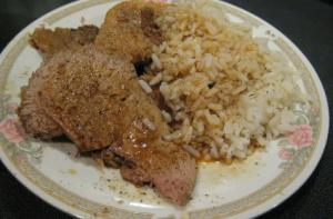 Crock Pot Barbecue Pork Butt Roast with Rice