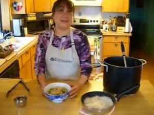 Vietnamese Bamboo Shoots and Chicken Noodle Soup - Part 6 - Chicken Shallots Mixture