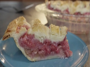 Raspberry Rhubarb Lattice Pie