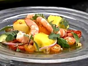 Shrimp and Watermelon Salad with Lemongrass Vinaigrette