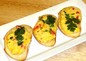 Manual's Corn Bruschetta