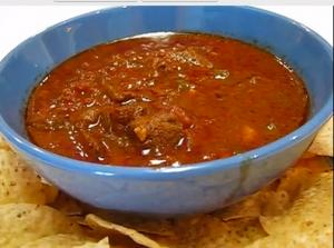 Beanless Chunky Beef Chili Con Carne