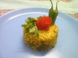 Thakkali Kadalai Paruppu Saadam (Tomato And Chana Dal Rice)