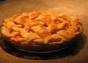 Lattice Crust Fresh Peach Pie