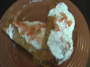 Masala Pancakes / Indian Savory Pancakes (Besan Puda)