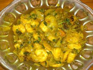 Prawn Menthi  Tomato Gojju