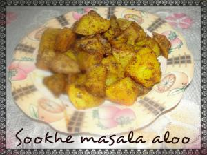 Sookhe Masala Aloo (Dry Potato Curry)